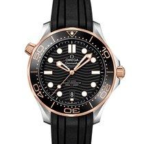 Omega Seamaster Diver 300 M Or/Acier 42mm Noir Sans chiffres