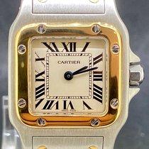 Cartier Santos Galbée Zlato/Zeljezo 24mm Bjel Rimski brojevi