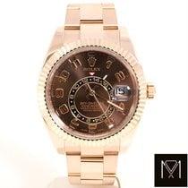 Rolex Sky-Dweller Růžové zlato 42mm Hnědá Římské