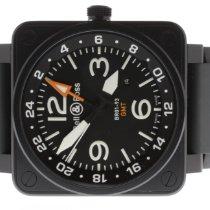 Bell & Ross BR 01-93 GMT Staal 46mm Zwart Arabisch