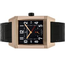 Jaeger-LeCoultre Reverso Squadra Hometime pre-owned 35mm Black Date Leather