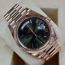 Rolex Day-Date 40 Rose gold 40mm Brown Roman numerals United States of America, Virginia, Arlington