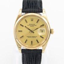 Rolex Żółte złoto Automatyczny Szampański Bez cyfr 34mm używany Oyster Perpetual Date