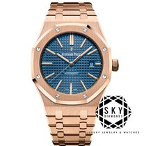 Audemars Piguet Royal Oak Selfwinding Rose gold 41mm Blue No numerals United States of America, New York, New York