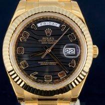 Rolex Day-Date II 218238 Ongedragen Geelgoud 41mm Automatisch