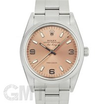 Rolex Air King Precision pre-owned 34mm Pink Steel