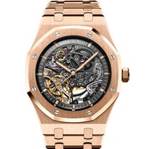 Audemars Piguet Royal Oak Double Balance Wheel Openworked Roségoud 41mm Doorzichtig