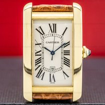 Cartier Tank Américaine Yellow gold 2603156mm Champagne Roman numerals United States of America, Massachusetts, Boston