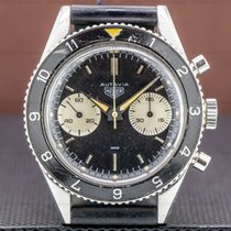 Heuer pre-owned Manual winding 38mm Black Plexiglass