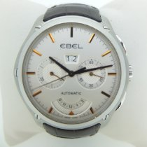 Ebel pre-owned Automatic 49mm Silver Sapphire crystal 5 ATM