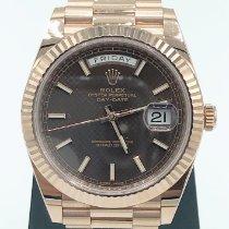 Rolex Day-Date 40 Rose gold 40mm Brown Roman numerals United Kingdom, London