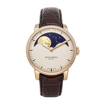 Arnold & Son HM Perpetual Moon Rose gold 42mm Champagne No numerals United States of America, Pennsylvania, Bala Cynwyd