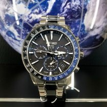 Seiko Astron GPS Solar Титан 43,5mm Черный
