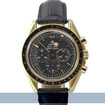 Omega Sarı altın Manuel kurmalı Siyah 42mm ikinci el Speedmaster Professional Moonwatch