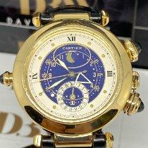 Cartier Pasha Geelgoud Blauw