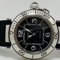 Cartier Pasha Seatimer usados 40mm Negro Fecha Acero