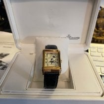 Jaeger-LeCoultre Reverso (submodel) pre-owned White Moon phase Crocodile skin