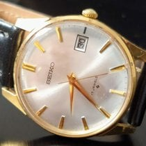 Seiko Yellow gold Manual winding Gold No numerals 34,5mm pre-owned