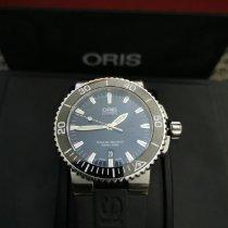 Oris Steel Automatic Black No numerals 43mm pre-owned Aquis Date