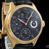 IWC Portuguese Perpetual Calendar Rose gold 44.2mm Black