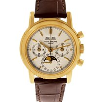 Patek Philippe Yellow gold Manual winding White 36mm pre-owned Perpetual Calendar Chronograph