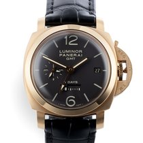 Panerai Luminor 1950 8 Days GMT PAM 289 Muy bueno Oro rosa 44mm Cuerda manual