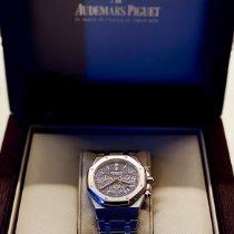 Audemars Piguet Royal Oak Chronograph Acier 39mm Bleu Sans chiffres