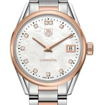 TAG Heuer Carrera Lady nuevo 2020 Cuarzo Reloj con estuche y documentos originales WAR1352.BD0779