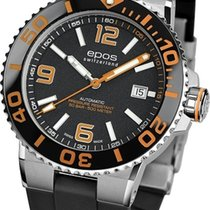 Epos Sportive Steel 43mm Black Arabic numerals