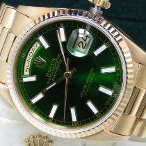 Rolex Day-Date 36 Yellow gold 36mm Green No numerals United States of America, Pennsylvania, HARRISBURG