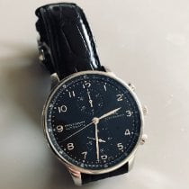 IWC Portuguese Chronograph Acier 41mm Noir Arabes France, Paris