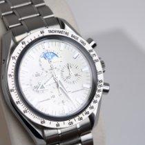 Omega Speedmaster Professional Moonwatch Moonphase Or/Acier 42mm Argent Sans chiffres