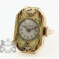 Roamer Yellow gold Manual winding Silver 15.4mm pre-owned