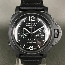 Panerai Luminor 1950 8 Days Chrono Monopulsante GMT Cerámica 44mm Negro Arábigos