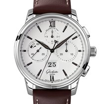 Glashütte Original Senator Chronograph Panorama Date 1-37-01-05-02-35 Unworn Steel 42mm Automatic United Kingdom