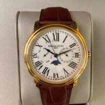 Frederique Constant Runabout Moonphase Steel 39mm Silver Roman numerals