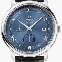 Omega De Ville Prestige Acero 39.5mm Azul Romanos