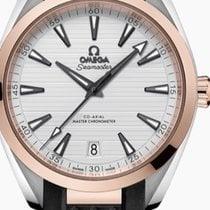 Omega Seamaster Aqua Terra Gold/Steel 41mm Silver No numerals