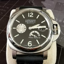 Panerai Luminor Power Reserve Acero 44mm Negro Arábigos