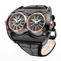 B.R.M Staal 53mm Quartz UT-20135-02 BYMIND Dual Time Racing Concept Watch nieuw