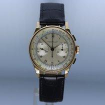 Chronographe Suisse Cie Sarı altın Elle kurmalı Chronograpg Suisse 18ct Yellow Gold 1950's ikinci el