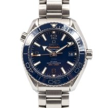 Omega Seamaster Planet Ocean Stahl 39.5mm Blau Arabisch