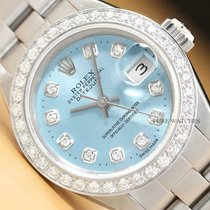 Rolex Oyster Perpetual Lady Date Stahl 26mm Blau
