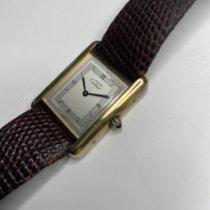Cartier Tank Vermeil pre-owned Bordeaux Leather