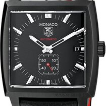 TAG Heuer Monaco Calibre 6 Steel 37mm Black No numerals United States of America, Texas, Richardson