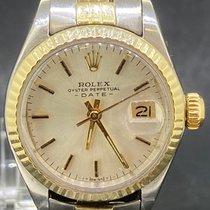 Rolex Lady-Datejust Gold/Stahl 26mm Silber Keine Ziffern
