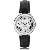 Cartier Ballon Bleu 33mm Сталь 33mm Белый Римские