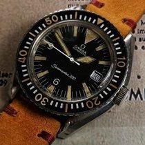 Omega Seamaster 300 pre-owned Black Date Steel