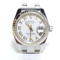 Rolex Lady-Datejust Staal 26mm Wit Romeins