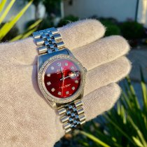 Rolex Datejust Ατσάλι 36mm Κόκκινο Xωρίς ψηφία